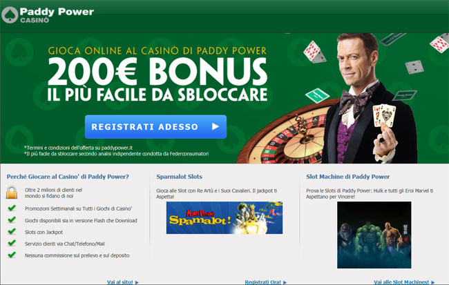 mettiti alla prova su casino.paddypower.it